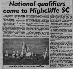 National Qualifier comes to Highcliffe March 2014